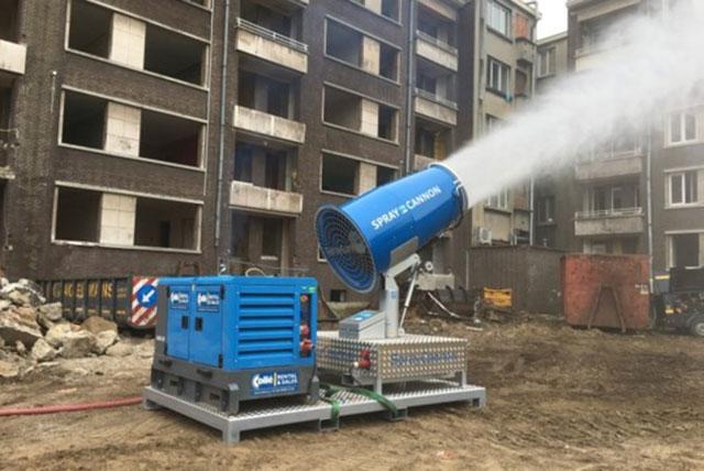 Nebulizador industrial para eliminación de residuos peligrosos y remanentes industriales metálicos y cristalinos